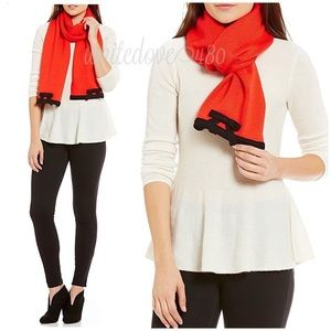 Kate Spade Knit Contrast Muffle Bow Scarf